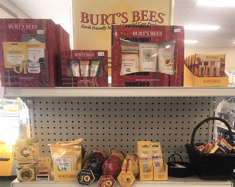 Burts Bees personal products